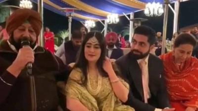 CM Captain Amarinder Singh sings at a wedding ceremony