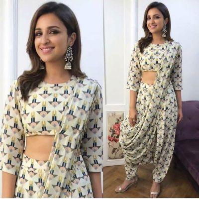 नवरात्रि में पहनने के लिए बेस्ट है परिणीति चोपड़ा की ये इंडो वेस्टर्न ड्रेसेस