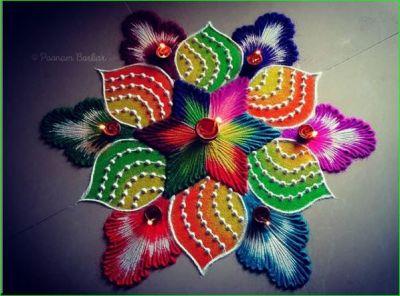 इस बार दिवाली पर बनाए यह स्पेशल वाली रंगोली डिजाइन, देखते रह जाएंगे मोहल्ले वाले
