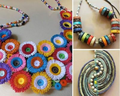 Wear light weight paper jewelry on festivals, this is how you can make it at home