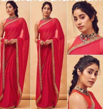 This festive season, learn saree draping from Janhvi Kapoor
