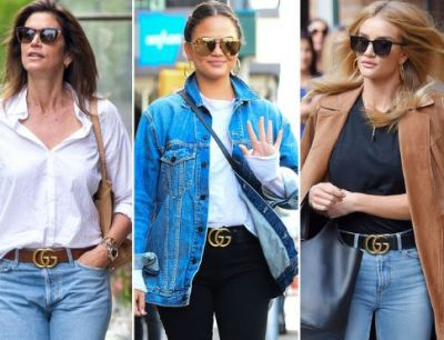 Belts in trend again, wear it according to you dress