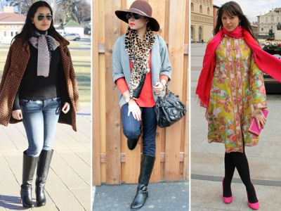 Make yourself look different from others, try these styles of scarf