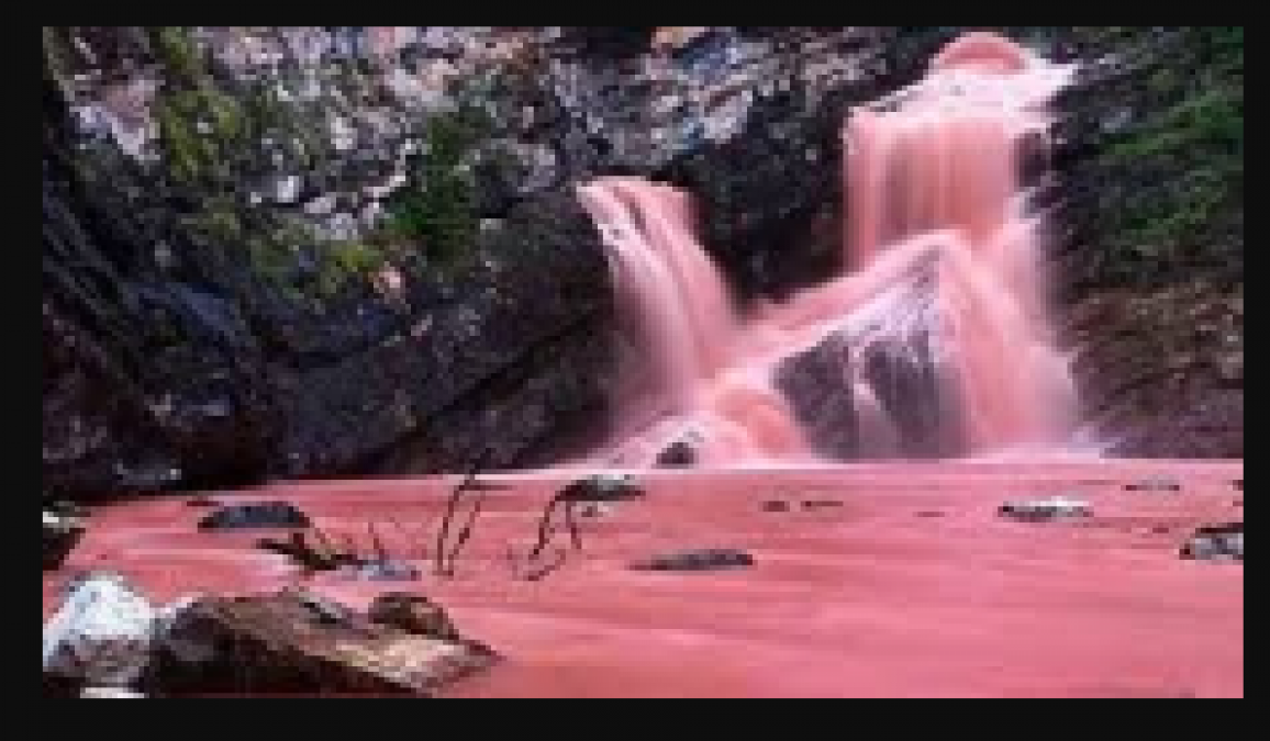 This pink waterfall changes color, know what is unique