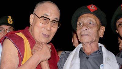 Dalai Lama meets jawan who escorted him to India from Tibet