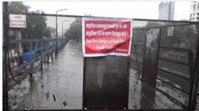 Malad Station's two foot overbridges remain shut for pedestrian movement
