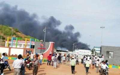 A fire broke out at Asian Paints plant in Vizag