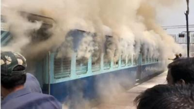 Charminar Express catches fire in Nampally railway station