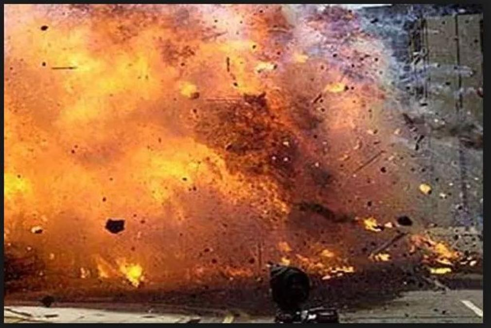 A blast burst out in a residential area of Srinagar District