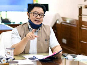 Sports Minister Kiren Rijiju tested positive for COVID