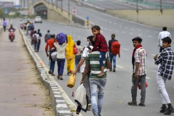 लॉकडाउन लगने के बाद तमिलनाडु छोड़ रहे प्रवासी मज़दूर