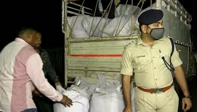 Prohibition and Excise Department seized Ganja that smuggling from Andhra to Odisha