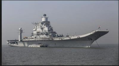 A fire breakout in INS Vikramaditya; a naval officer lost his life in the blaze