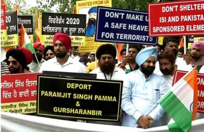 Delhi witnesses protest outside British High Commission against 'Referendum 2020'