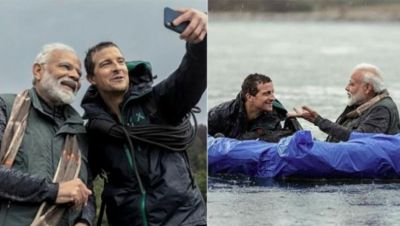 Man Vs Wild: PM Modi goes on wild adventure,Grylls Says, 'Himalayan Water Extremely Cold'