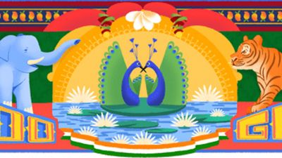 Google honours India with a  unique doodle on 72nd Independence Day