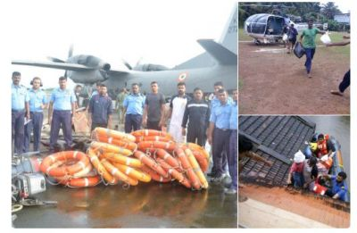 Kerala: Indian Coast Guard continues relief and rescue operations across the state