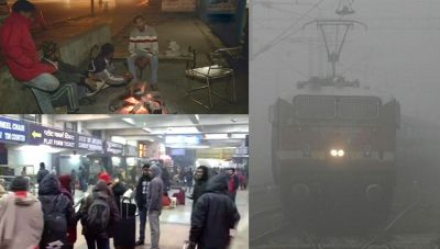 National capital suffering from cold wave, 25 trains delayed