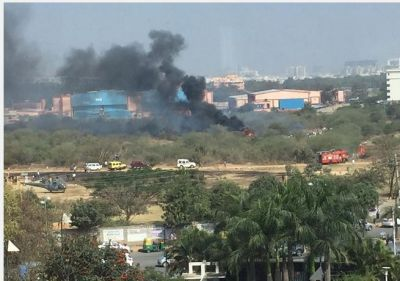 Indian Air Force Mirage 2000 trainer fighter aircraft crashed