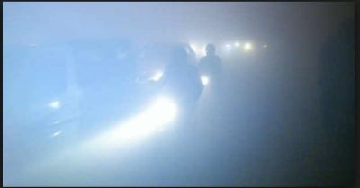 Fog and zero visibility In the Delhi-NCR region, expected light rainfall