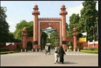 Bharatiya Janata Yuva Morcha raise demand to build a temple in Aligarh Muslim University
