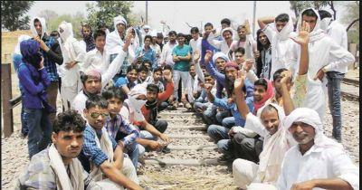 Gujjar community again held a dharna demanding five per cent reservation