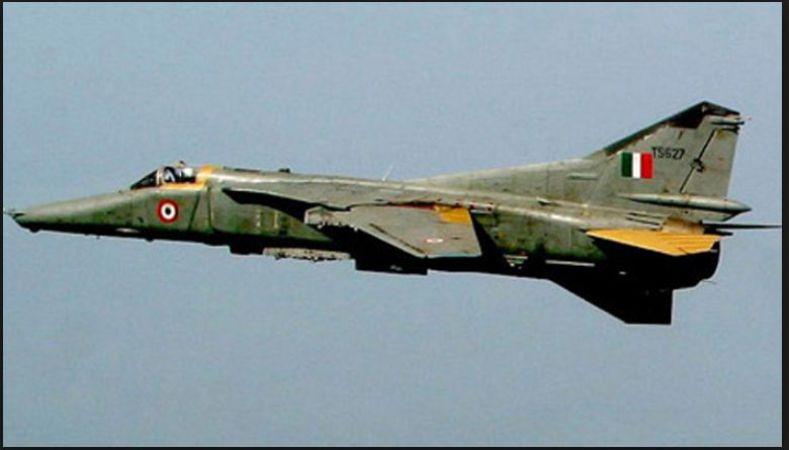 MIG-27 Indian Air Force Fighter Jet crashed near Pokhran