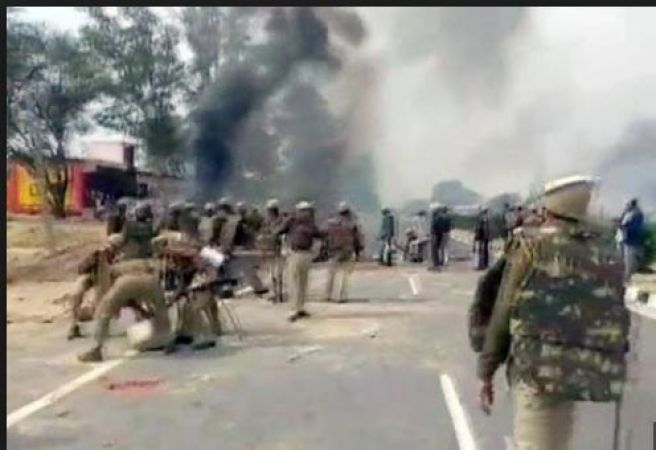 Gujjar Community Agitation: protestors clashed with police in Sikar