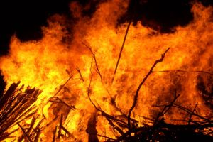 Fire broke out in a house in New Delhi