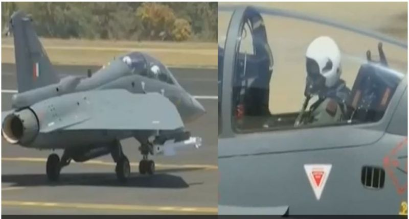 LCA Tejas got a special passenger as Army chief at the Aero
