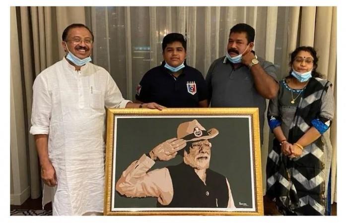 दुबई स्थित केरल के छात्र ने बनाई मोदी की तस्वीर, पीएम ने किया सम्मानित