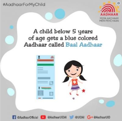 Know facts about blue colored 'Baal Aadhaar' for children below 5 years