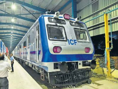 Electric train to run between Delhi and Rewari with the speed of 100 KM/h