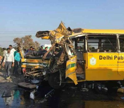 Pathetic School Bus and truck accident in Indore