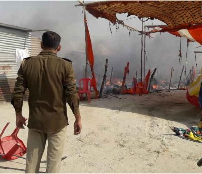 Kumbh Mela 2019: Cylinder blast leads to Massive fire at a pandal, no casualties