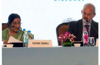 Raisina Dialogue2018:  Sushma Swaraj talks hard-hitting on terrorism