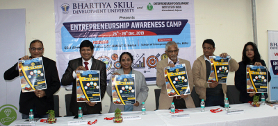 Bhartiya Skill Development University in association with EDII – Ahmedabad arranges Entrepreneurship Awareness Camp