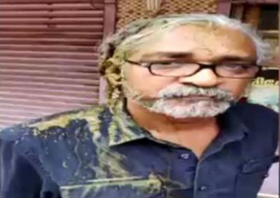 RSS worker  attacked filmmaker Priyanandan over social media post on Sabarimala, poured cow dung water