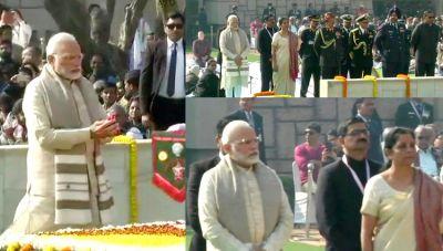 Delhi: Prayers being sung at Rajghat on Mahatma Gandhi's  70th death anniversary.