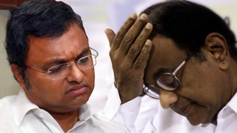 Image result for p chidambaram with son