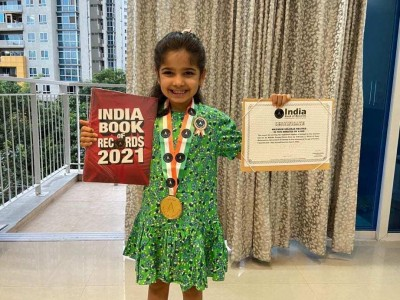 5-yr-old Pune girl recites 30 shlokas in 5 minutes, registered in India Book of Records
