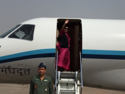 EAM Sushma Swaraj embarks on five-day visit to South Africa
