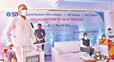 State Finance Minister T Harish Rao inaugurated SBI's new RBO at Siddipet
