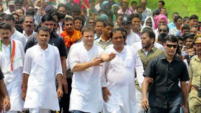 MP surrounded by the flames of violence, Rahul Gandhi left for Mandsaur