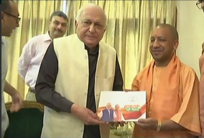 Sampark for Samarthan : CM  Yogi Adityanath meets  Padmashree Mansoor Hasan