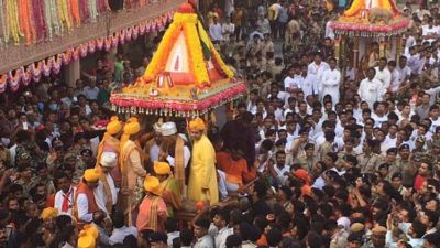 Jagannath Rathayatra came out in tight security, Amit Shah attended Mangala Aarti