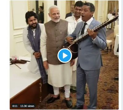 Seychelles President sings for PM Modi at Rashtrapati Bhavan