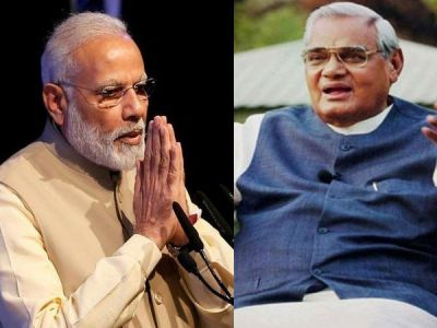 Modi visits Vajpayee at AIIMS after inauguration of National Centre for Aging