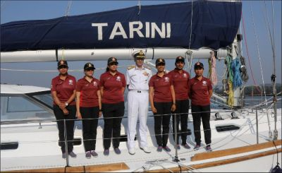 INSV Tarini led by all-women crew reaches Cape Town