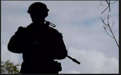 A soldier shot dead by masked gunmen in Pulwama